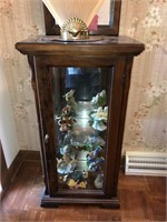 Glass Display Cabinet With Mirror  Includes