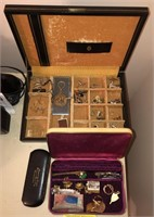 Lot of Vintage Jewelry  Includes tie clips, cuff