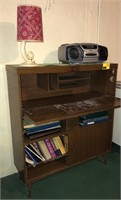Vintage Desk and Contents Includes boom box,