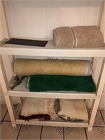 Plastic Shelving Unit With Contents  Includes