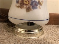 Lot of Two Vintage Glass Lamps  One lamp has