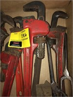 Large Lot Of Pipe Wrenches and More
