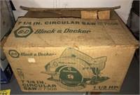Vintage Black & Decker Circular Saw