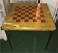Vintage Filding Game Table