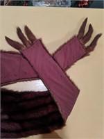 Vintage genuine fur scarf with tails