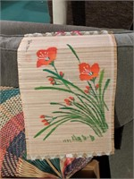 Large lot of Asian bamboo scroll paintings and