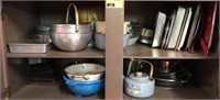 Large Lot Of Baking Pans, Bowls, and More