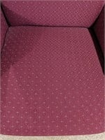 Upholstered high-back chair