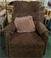 Upholstered reclining rocking chair