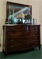 Dresser with mirror contents on top not included