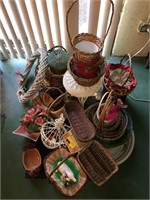 Large Lot Of Wicker Baskets