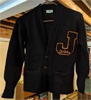 Vintage high school St John button-up sweater,