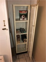 Vintage metal Cabinet With Contents