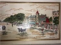 Framed Armond Ruffet Moulin Rouge Paris Wall Art
