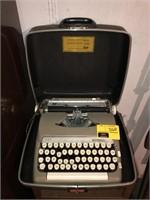 Vintage Typewriter With metal Cabinet