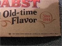 Vintage Pabst Blue Ribbon Carboard Sign