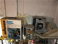 Metal Shelving Unit With Contents
