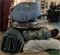 Large lot of various outside chair cushions