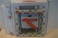 MONOPOLY GLASS GAME BOARD ONLY