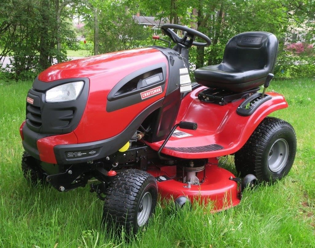 Craftsman Yt 3000 21 Hp Riding Mower Live And Online Auctions On Hibid Com