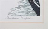 """Woldemar Neufeld. """"John Finley Walk...,"""" woodcut"""