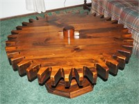 Solid Wood Cog Table