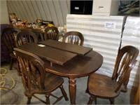 heavy duty Singer table w/ 6 chairs