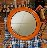 Retro Ship's Wheel Mirror