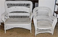 Antique Wicker Porch Set