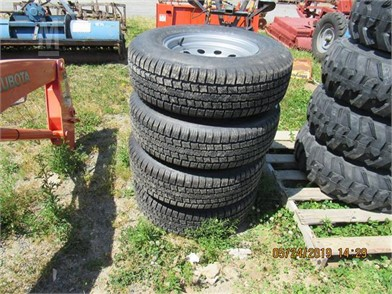 New) 225X75 R15 Radial Tires & Wheels (Set) Other Auction