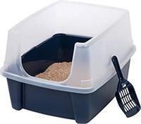 IRIS OPEN TOP CAT LITTER BOX KIT WITH SHIELD