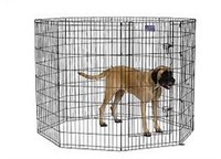 """MIDWEST EIGHT PANEL 8"""" TALL EXERCISE PEN WITH DOOR"""