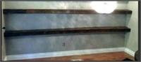WALL MOUNT SHELF WOOD APROX. .5FTX7FT