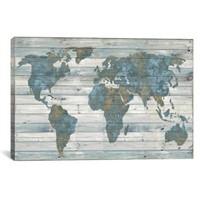 "ICANVAS WORLD MAP CANVAS 18X12"""