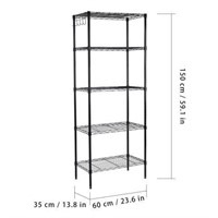 LANGRIA 5-TIER WIRE SHELVING UNITS