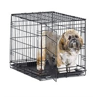 NEW WORLD FOLDING DOG CRATE WITH PLASTIC TRAY