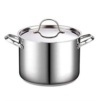 STAINLESS STEEL STOCKPOT WITH LID IN 8 QT