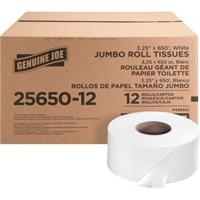 GENUINE JOE 4-ROLL JUMBO ROLL TISSUE