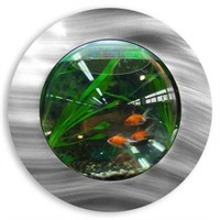 FISH BUBBLE WALL MOUNTED FISH TANK