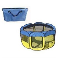 "PET LIFE COLLAPSIBLE PLAYPEN 42"" x 42"" x 24"""