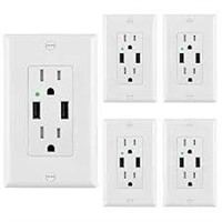 5 PACK BESTTEN USB RECEPTACLE OUTLETS