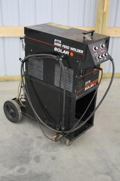 SOLAR 2175 WIRE FEED WELDER ON CART | SPENCER SALES on