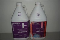 LOT OF 2 UNSCENTED NEUTRAL FLOOR CLEANER