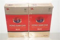 LOT OF 2 HONGS AM CHA KOREAN GINSENG HERBAL TEA