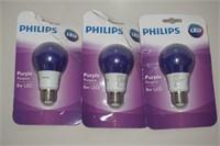 LOT OF PHILIPS LED PURPLE 8W LIGHT
