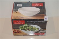 A LA CARTE 4PACK PORCELAIN SERVING BOWLS
