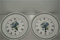 LOT OF 2 BOTANIC GARDEN PORT MEIRION CLOCK - ONE