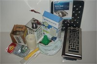 LOT OF ASSORTED HOME ACCESSORIES