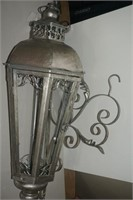 LARGE OUTDOOR WALL SCONCE - MISSING GLASS