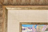 """Art Walt Gonske Oil on Canvas """"Lower Rio Hondo"""""""